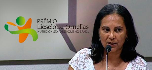 Albaneide Peixinho conquista Prêmio Liesellotte Ornellas