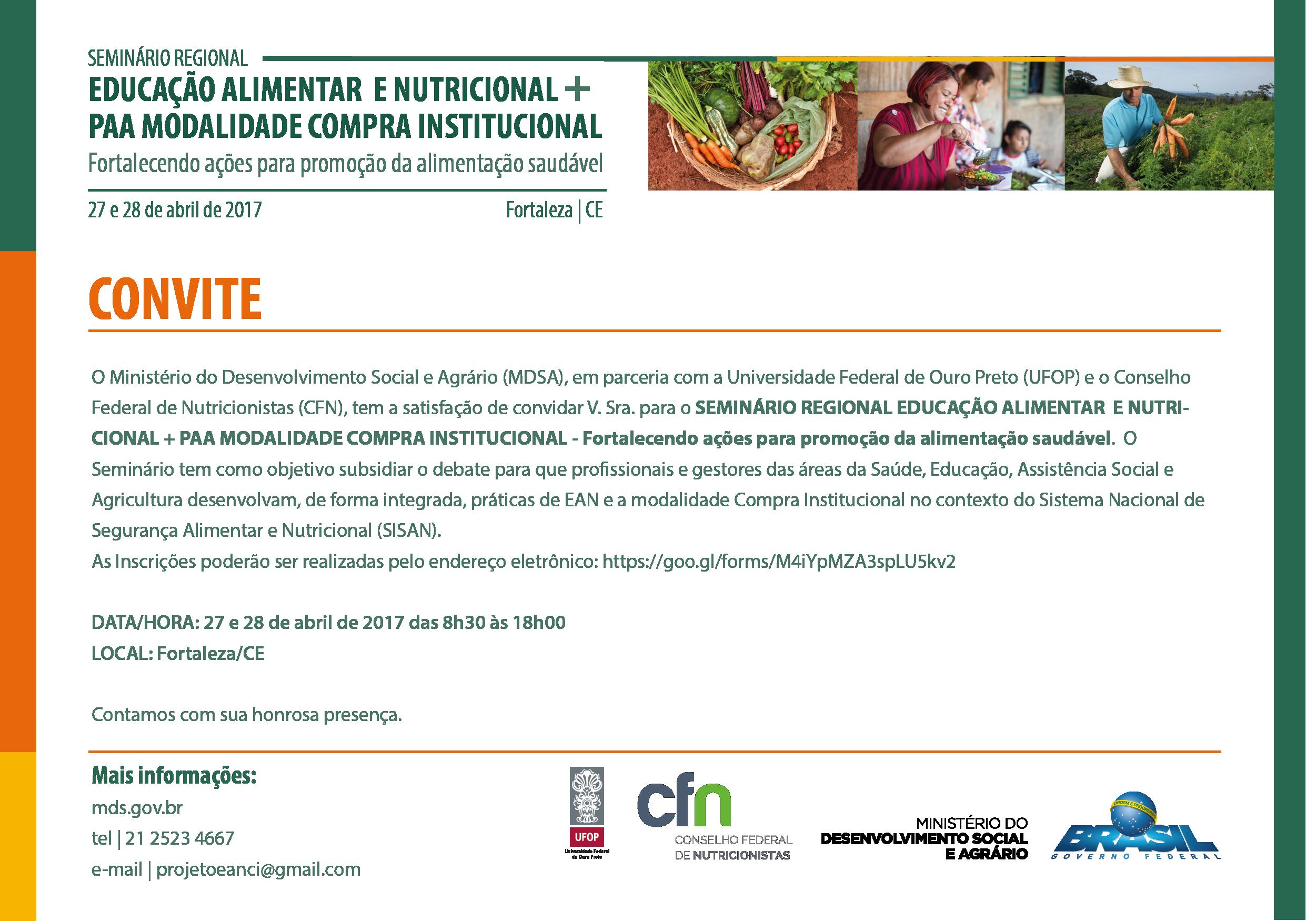 Convite CE EAN + COMPRA INSTITUCIONAL