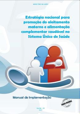 capa Manual de implementa o da EAAB Estratégia nacional para promoção do aleitamento materno e alimentação complementar saudável no Sistema Único de Saúde