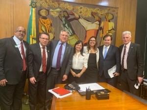 A nutricionista e presidente do CFN, Rita Frumento participou da reunião com o presidente da Câmara dos Deputados, Rodrigo Maia e outros parlamentares.