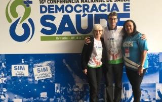 Da esquerda para a direita: os conselheiros federais Myrian Coelho e Acemi Almeida, e a presidente da Associação Brasileira de Nutrição, Ruth Guilherme.