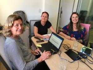 As nutricionistas Sílvia Cozzolino, Liliana Bricarello e Vânia Passero, na reunião da Comissão de Ética, realizada no CFN.